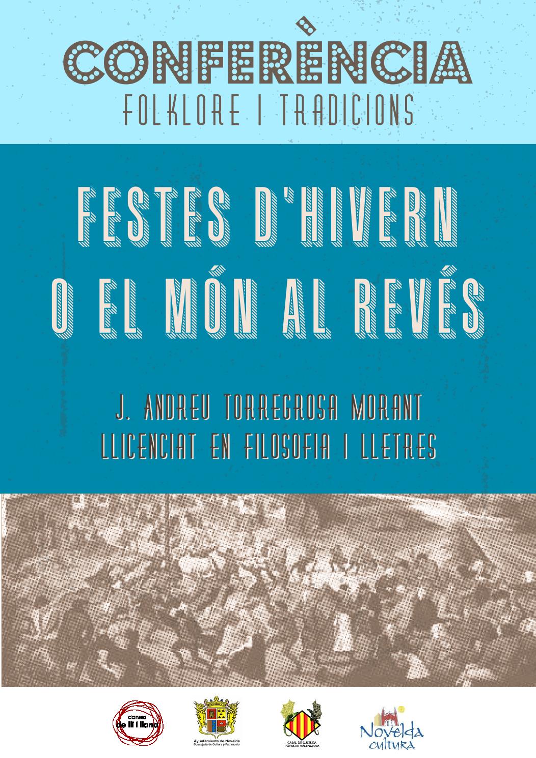 """""""Festes d'hivern o el mon al revés"""". Conferencias de Folclore y tradición"""